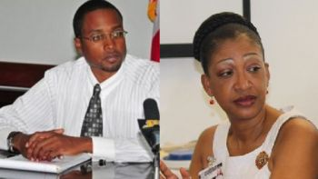 Left: Medical Officer and local Dr Ronald E. Georges was snubbed for the post of BVIHSA CEO held by Darlene Carty-Baptiste (right). Photo: VINO/File