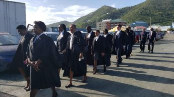 """Lawyers from the Virgin Islands at the Opening of the 2019/20 Law Year under the theme: """"A NEW ERA for the Eastern Caribbean Supreme Court: the Road to achieving Court Excellence"""" on January 13, 2020. Photo: VINO"""