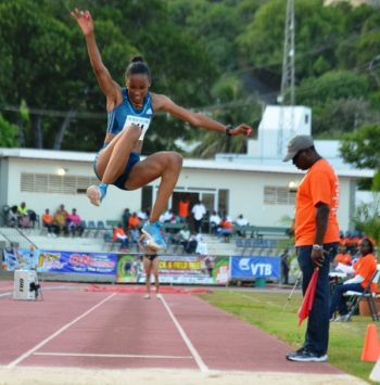 Long Jumper Chantel Malone; Ms. Malone's event is slated on November 26, 2014 at the Athletics Stadium in the city of Xalapa. Photo: Provided