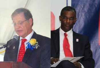 Left: Governor of the Virgin Islands John S. Duncan OBE. Junior Minister for Tourism and Territorial At Large Representative Hon Archibald C. Christian (right) spoke out about how the Police Force has been treated by the Governor's Office and he wondered why 'the police were not on their radar.' Photo: VINO/File