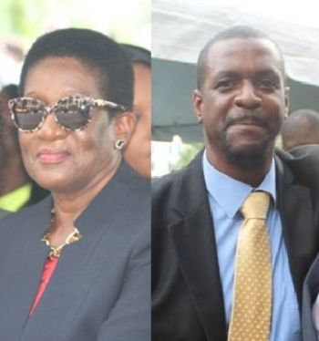 Fifth District Representative Hon Deloris Christopher, left, said Members should be able to speak freely in the House of Assembly without being chastised, while Leader of the Opposition Andrew A. Fahie (R1), right, said with the lack of accountability in the Virgin Islands Government, including the absence of financial reports for years, it is impossible not to question the leadership of the Ministry of Finance. Photo: VINO/File