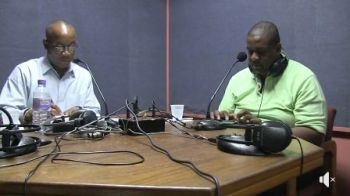 Mr Claude O. Skelton-Cline, left, on his show, Honestly Speaking, aired Tuesday 13, 2018 on ZBVI 780 AM. Right is guest of the show and Leader of the Opposition and First District Representative Hon Andrew A. Fahie. Photo: Facebook