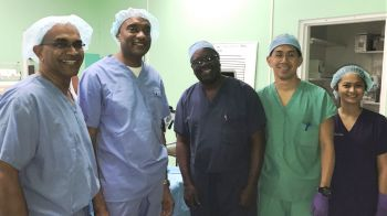 "Four of the men treated by the team at the Clinic, were resident in the VI while the other came as a ""medical tourist from overseas."" Photo: Provided"