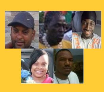Some of the persons murdered by gun in the Virgin Islands from 2011 to current. From top left are Nyron F. Ollivierre called 'Tin Tin', Daren Allen 'Tiger' Hodge, Paul Prentice, Kawanna Todd-Rhymer and Cornel Melbourne Francis. Photo: Provided/File