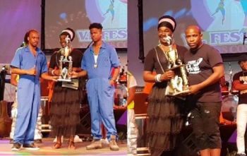 Combine Elites (left) was awarded for Most Energetic Performance while Rucas was awarded for Most Grooviest Performance. Photos: VINO