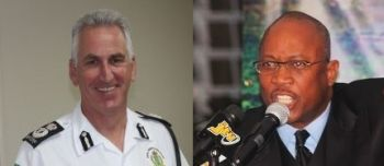 Police Commissioner, Michael B Mathews and Honestly Speaking's Claude O. Skelton Cline. Photo: VINO/File