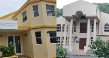 From left: Gertrude and Christiana Warner Community Centre in Purcell and Cane Garden Bay Community Centre. It was revealed in the House of Assembly's Standing Finance Committee that most community centres in the Virgin Islands are in a state of disrepair. Photo: VINO