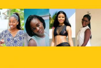 From left: Yhenya Matthew, Khadijah Liburd, Daniella R. Industrius and Adondah M. Hodge - the contestants for Miss Jr BVI 2017. Photo: Team of Reporters/Facebook