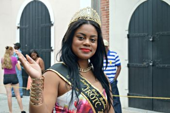 One of the beauty queens taking part in the St Thomas Carnival parade. Photo: VI Consortium