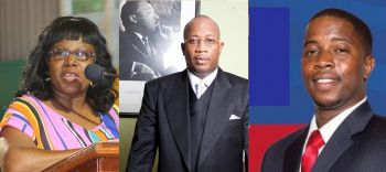From left: Critics of the Governor include Sixth District Representative Hon Alvera Maduro Caines, former Managing Director of the BVI Ports Authority Claude O. Skelton Cline and Second District Representative Hon Melvin M. Turnbull. Photo: VINO/File