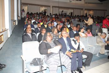 Some of the persons in attendance at the 2nd annual Public Service Excellence Award (PSEA) ceremony at Eileene L. Parsons Auditorium, H.L. Stoutt Community College in Paraquita Bay last evening, September 29, 2016. Photo: VINO