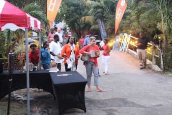 A number of persons turned up for the launch of the 3rd BVI Food Fete in Cane Garden Bay. Photo: VINO