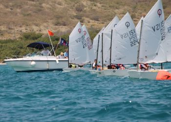 Virgin Islands' sailors Ryan Lettsome and Rayne Duff were in winners' row when the Cruzan Open Regatta was held on April 25-26, 2015 in St Croix, US Virgin Islands. Photo: Provided