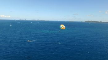 Parasailing allows persons to get a spectacular aerial view of the Virgin Islands. Photo: Provided