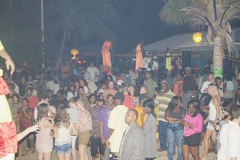 Attendees at a previously held Full Moon Party at the Cyber Cafe. Photo:supplied