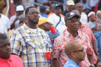 A number of persons from Tortola witnessed Giant Valley win the Governor's Cup for the Virgin Islands. Photo: Andre 'Shadow' Dawson/VINO