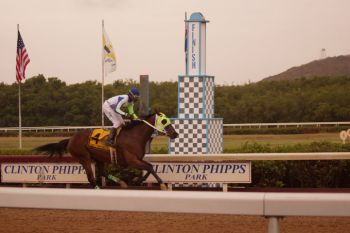 Meanwhile, there was a third victory for Tortola when Honors of Family Affairs Stables won the Boyzie Benjamin C- a race for Open horses contested over 1 mile & 1/16 for a purse of $10,000.00. Photo: Andre 'Shadow' Dawson