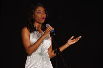 Ms Sasha Wintz performed at the gala event. Photo: Stephen A. McMaster