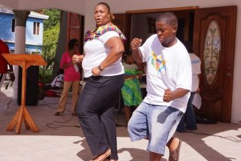Some persons also completed the fun with dancing to local music. Photo: Andre 'Shadow' Dawson