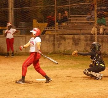 A batter from the Hawks in action. Photo: Andre 'Shadow' Dawson