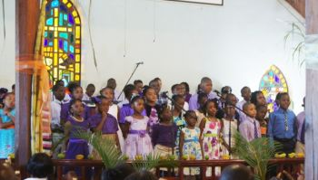 The Youth Choir doing a song entitled
