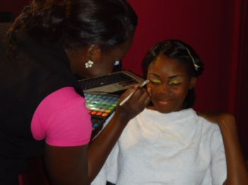 Getting the eyebrows done for ESHS Prom Night 2013. Photo: Nadine DeSouza