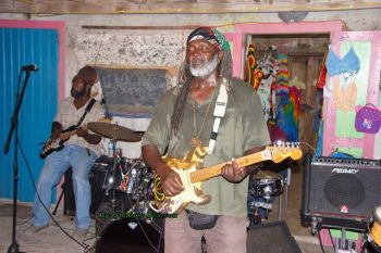 Scene from the New Year's Eve show at Foxy's in Jost Van Dyke. Photo: Andre 'Shadow' Dawson