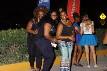 And with the right music Guyanese style, the fun was on. Photo: VINO