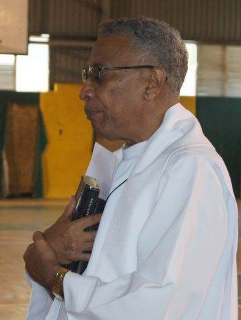 Mr William B. McCleary said the concern about prisoners having the benefits of a fair and just system, which includes the possibility of parole, was raised by Father Ronald Branche (in photo) at yesterday's (September 17, 2013) church service held to mark the opening of the Virgin Islands' Law Year. Photo: VINO/File