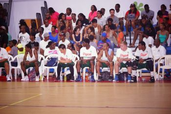 Team Bayside Blazers' bench. Photo: Andre 'Shadow' Dawson