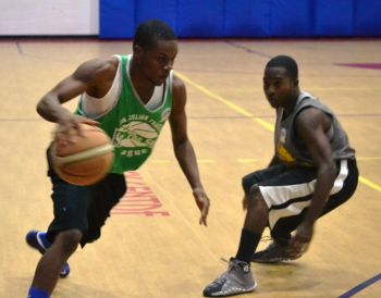 Now that Hurricane Gonzalo has dissipated the next big item of excitement for Virgin Islanders is the playoffs in the Hon Julian Fraser Save the Seed National Basketball League and Hon Julian Fraser RA (R3) said it will be a weekend of great excitement for the fans. Photo: VINO/File