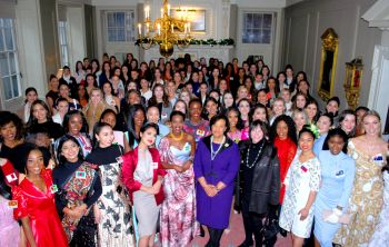 Miss World BVI Rikkiya A. R. Brathwaite, 2nd from right, was among the VIP guests of Baroness Scotland of Asthal at the Worshipful Company of Skinners in London. Photo: Miss World