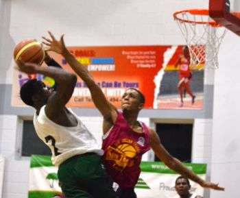 Game one was a resounding 89-67 win inspired by Deon J. Edwin's 24 point effort. Photo: VINO