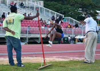 Shanakay Wheatley won the U20 Girls Long Jump with a distance of 4.51m. Photo: Charlie E. Jackson/VINO