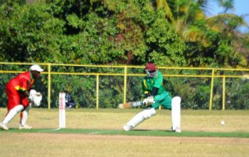 Trent Belfon smashed a quickfire 31 for the NTCoG against his countrymen, Grenada. Photo: supplied