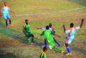 Action from the 1-0 defeat to Anguilla. Photo: The Anguillan