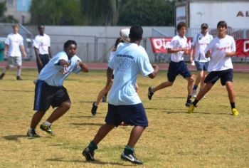 Action from the U17 championship won by ESHS. Photo: VINO