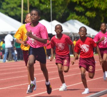 Both Joyce Samuel and Alexandrina Maduro Primary schools held their Sports Days on Friday with wins for the Hawks and Roses. Photo: Charlie E. Jackson/VINO
