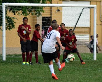 Althea Scatliffe U12's battled it out a 0-0 draw with Cedar White. Photo: Charlie E. Jackson/VINO