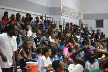 Another full house at the Hon Fraser Save the Seed Basketball League games on August 22, 2015. Photo: Charlie E. Jackson/VINO