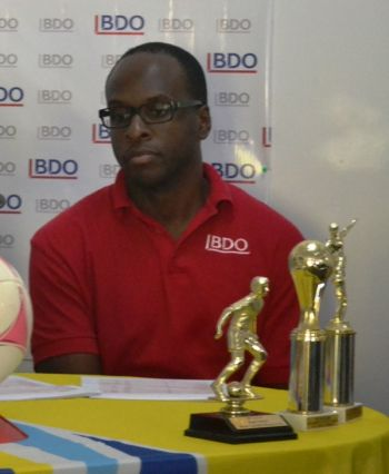 Dalan Vanterpool expressed how excited BDO was to once again be sponsors of the Primary School League. Photo: Provided