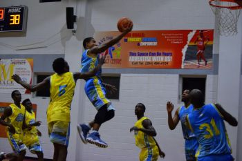 The packed audience at the Save the Seed Energy Centre in Duff's Bottom, Tortola was treated to some high level, end to end action packed basketball on Thursday July 6, 2017. Photo: Charlie E. Jackson/VINO