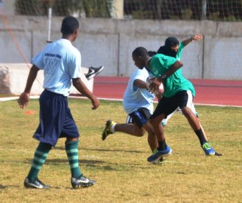 Action from the U15 Rugby Championship's held on Friday February 14th. Photo: VINO