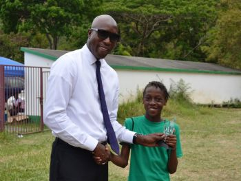 Anna Gordon, also of St George's Primary School, received the Best Bowler award. Photo: Charlie E. Jackson/VINO