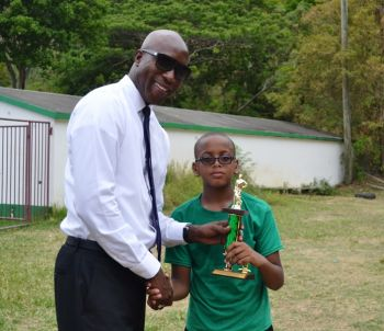 Jeremy Grant of St George's Primary School was named Best Batsman. Photo: Charlie E. Jackson/VINO