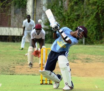 Trent Olice led his team ESHS to an 8 wicket victory over BFEC in the Theodore Skeete Cup. Photo: Charlie E. Jackson/VINO