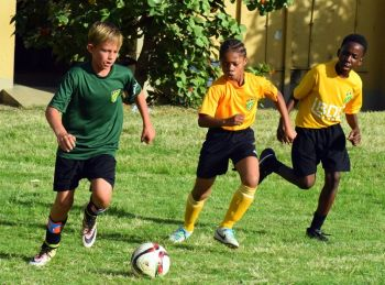 Action in the game this week between Cedar Green and Seventh-day Adventists. Photo: Charlie E. Jackson/VINO
