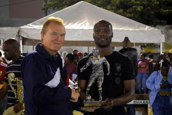 One Love's Richard Morgan was named MVP of the BVIFA National League. Photo: Charlie E. Jackson/VINO