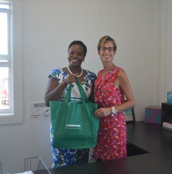 The official handover was done on Monday, October 1, 2018, to Principal Laura Fox by Customer Service Officer of the Nagico office on Virgin Gorda, Ms Susanna Ophelia. Photo: Provided