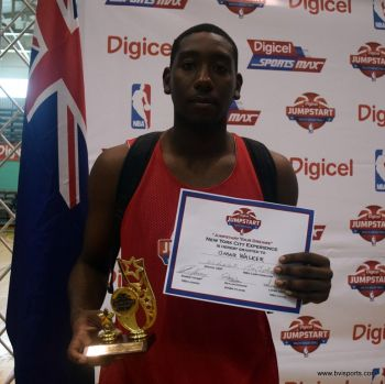 Omar Walker won the Free Throw competition to wrap up a successful experience at the Digicel/NBA Elite Camp. Photo: Charlie E. Jackson/VINO